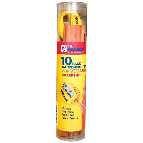 CH Hanson 00213 10 Hanson Pencils w/1 VersaSharp