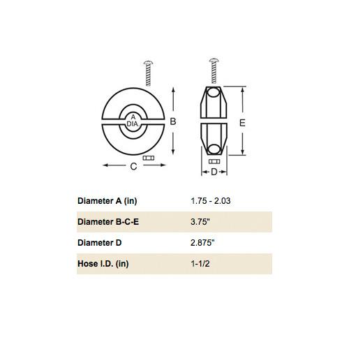 """Reelcraft S600547-2 1-1/2"""" Hose Bumper"""