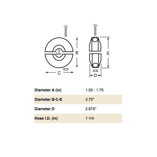 """Reelcraft S600547-1 - 1-1/4"""" Hose Bumper"""