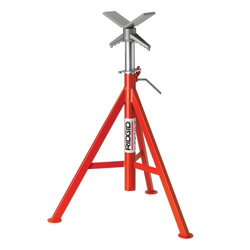 "RIDGID 56662 VJ-99 V Head Pipe Stand, 28""- 52"" High 12"" Pipe Cap 2500 Max Wt"