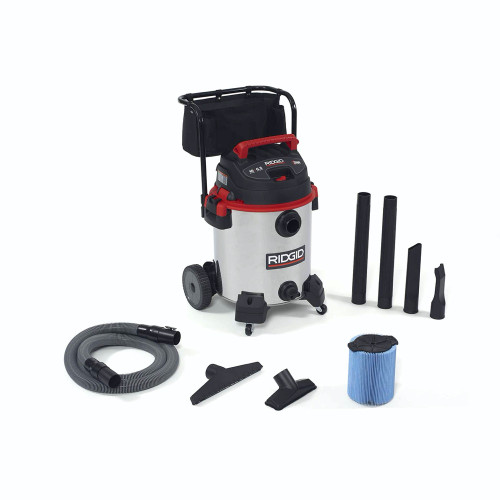 RIDGID 50353 1610RV 16 Gal Red Stainless Steel Wet/Dry Vac