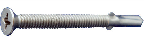 "1/4-20 x 2-3/4"" Phillips Flat Head Screws with wings 410SS 1000ct"
