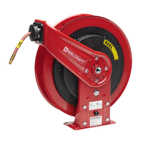 """Reelcraft RS7670-OLP - 3/8"""" x 70 ft. REELSAFE Hose Reel for Air/Water with Hose"""
