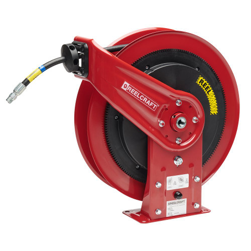 "Reelcraft RS7450-OHP - 1/4"" x 50 ft. REELSAFE Hose Reel for Grease with Hose"