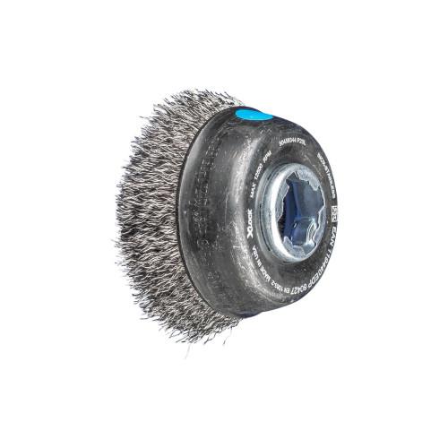 PFERD 80371 Power Crimped Wire Wheel Brush 6 Diameter 8000 Maximum RPM 5//8-1//2 Arbor Round Hole 0.012 Wire Size Narrow Face Stainless Steel Bristles