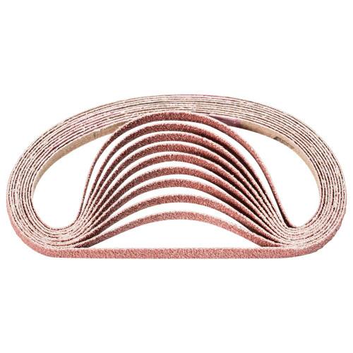 13 Length x 3//8 Width 36 Grit Pack of 10 Aluminum Oxide A PFERD 49016 Abrasive File Belt