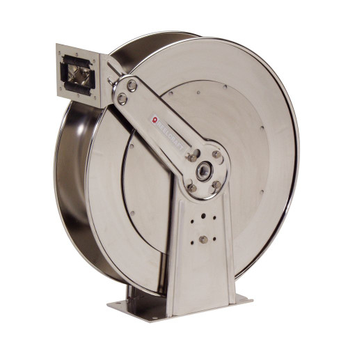 """Reelcraft D84000 OLS-S - 1"""" x 50 ft. Stainless Steel Hose Reel"""