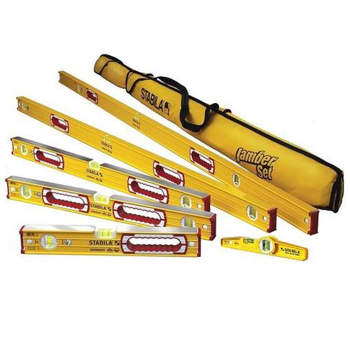 """STABILA 78496 Type 196 Level Set Kit - 78""""/48""""/32""""/24""""/16"""" Torpedo & Case"""