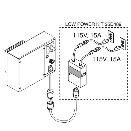 GRACO 25D489 Low Power 120V Adapter Kit