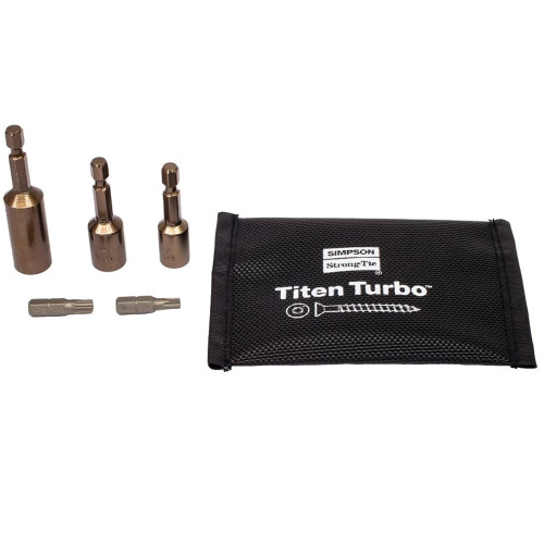 Simpson Strong-Tie TNT25500H Titen Turbo Hex Head 1//4 x 5 100ct