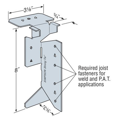 """Simpson Strong-Tie S//JCT Steel Joist Connector for 8/""""-14/"""" Joists"""