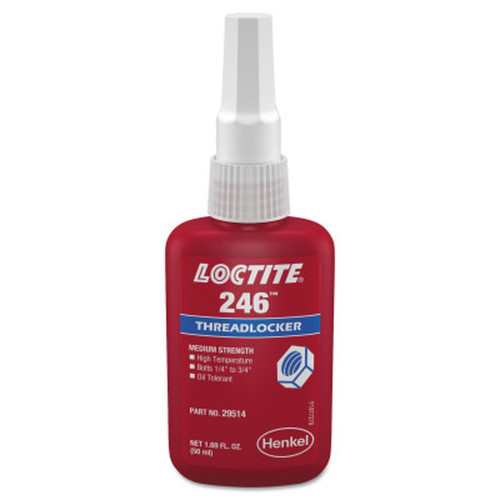 LOCTITE 234172 246 Threadlockers, Medium Strength/High Temp, 50ml, Blue