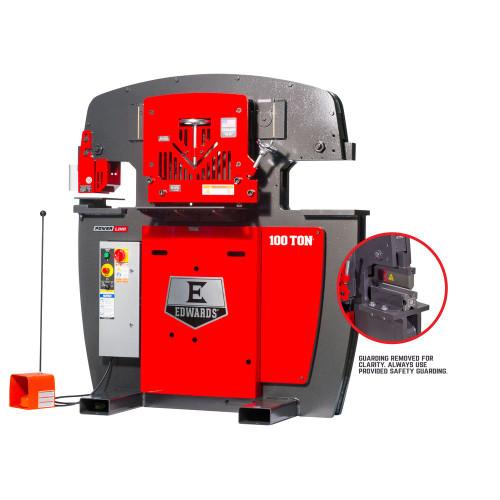"""Edwards Manufacturing 10233022 100 Ton Ironworker 230V, 3Ph, 10"""" Brake"""