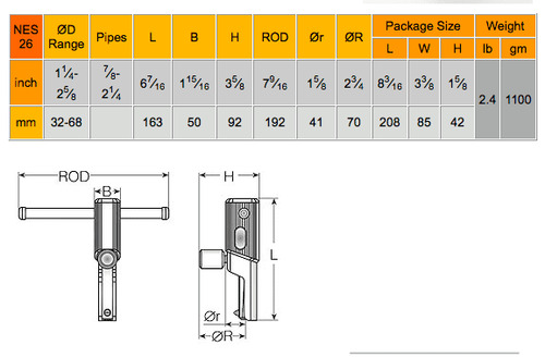 "NES nes26 1-1/4"" - 2-5/8"" Internal Thread Repair Tool"