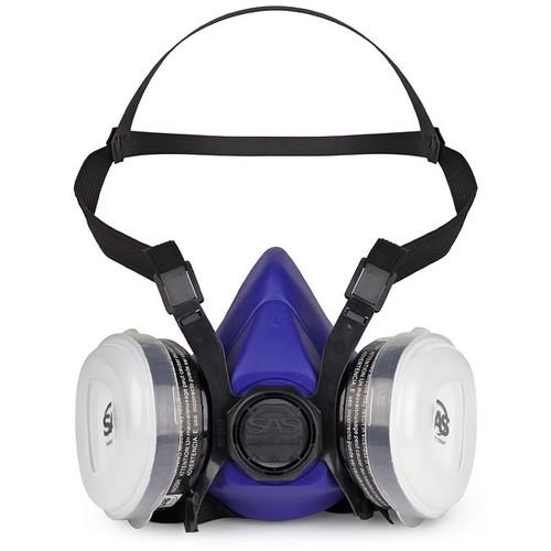 SAS Safety 8661-93 Bandit Half Mask Respirator OV Cartridge N95 Filter - Large