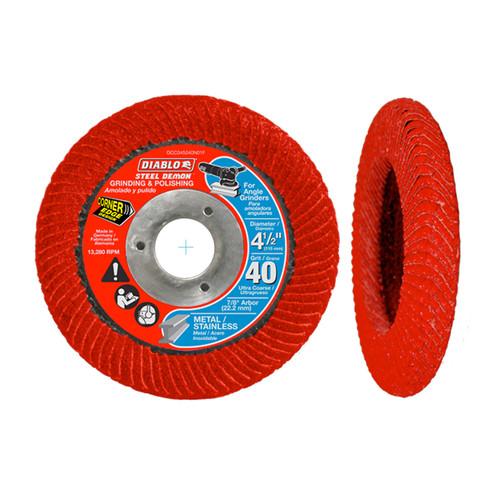 """FREUD DCC045040N01F DIABLO 4-1/2"""" Steel Demon Corner-Edge Flap Disc 40 Grit"""