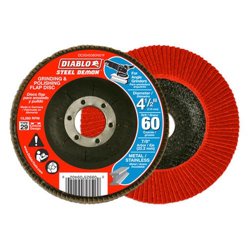 "FREUD DCX045060N01F DIABLO 4-1/2"" 60 Grit Grinding & Polishing Flap Disc"