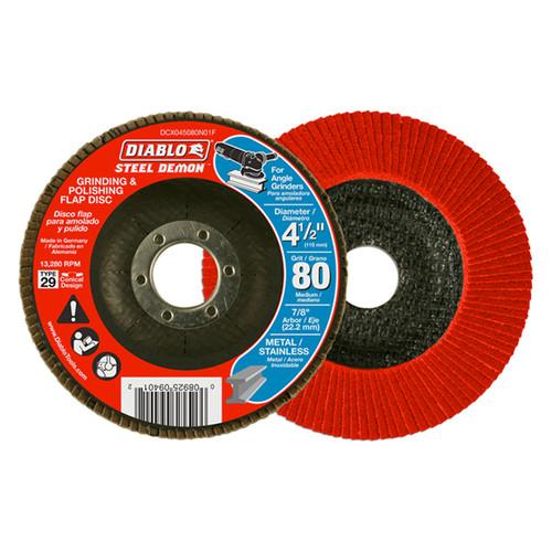 "FREUD DCX045080N01F DIABLO 4-1/2"" Steel Demon Flap Disc 80 Grit - No Hub"