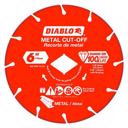 """FREUD DDD060DIA101F DIABLO 6"""" Diamond Rim Metal Cut-Off Wheel"""