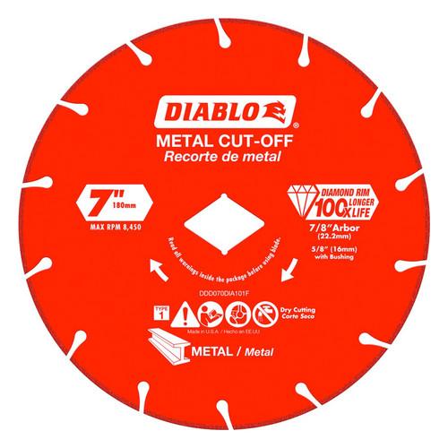 """FREUD DDD070DIA101F DIABLO 7"""" Diamond Rim Metal Cut-Off Wheel"""