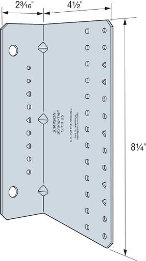 """Simpson Strong-Tie SJC8.25-R15 Steel-Joist Connectors 8-1//4/"""" 14Ga15ct"""