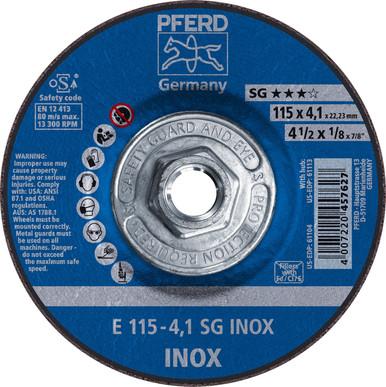 PFERD® 61113 Performance Line SG INOX Cutting /& Grinding Wheels Lot of 10!