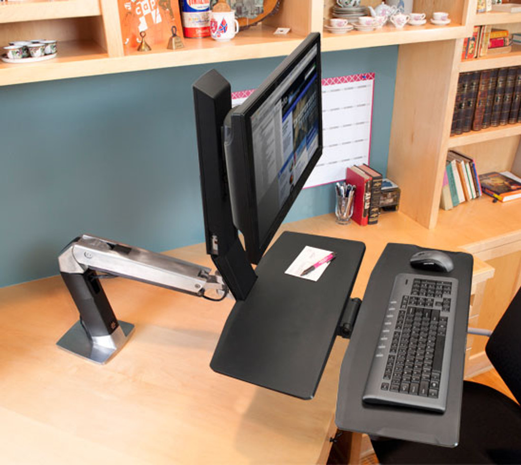 WorkFit-A, Single LD with Worksurface+ In Use