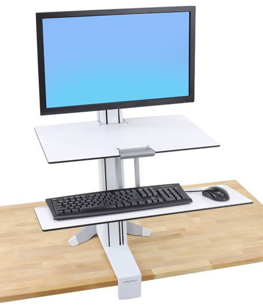 WorkFit-S, LCD LD w/Worksurface and Large Keyboard Tray, Color White