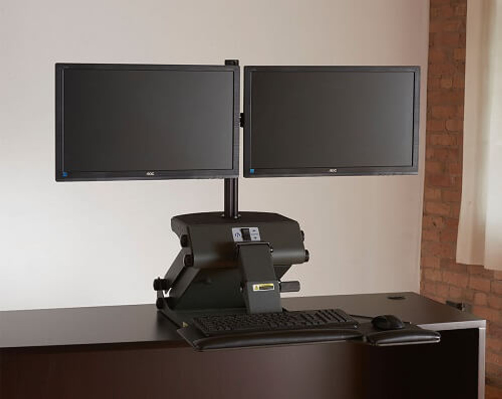 HealthPostures TaskMate Journey 6200 with dual monitor arm