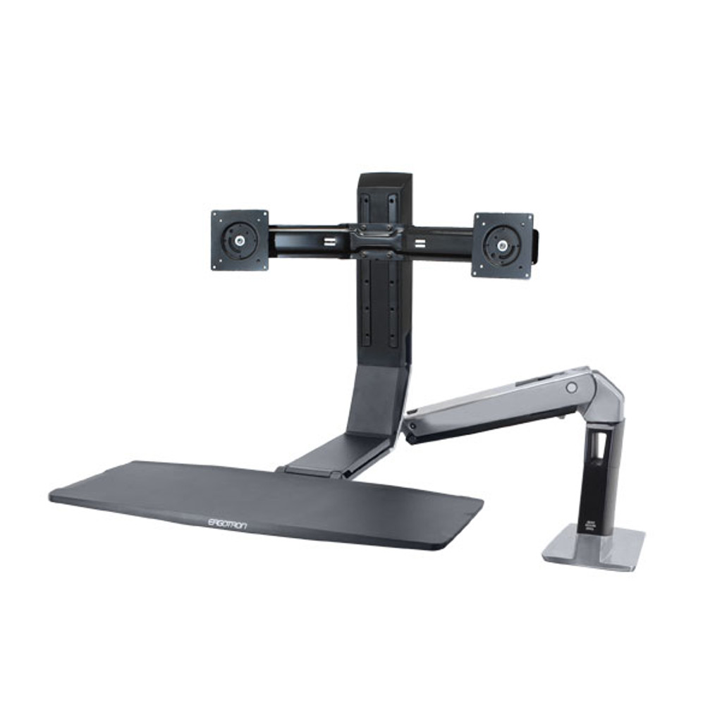 WorkFit-A, Dual Monitor Sit-Stand Workstation (24-312-026)