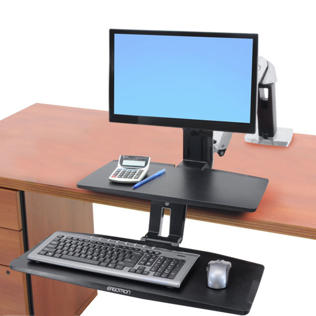 WorkFit-A with Suspended Keyboard, Single LD (24-390-026) In Use