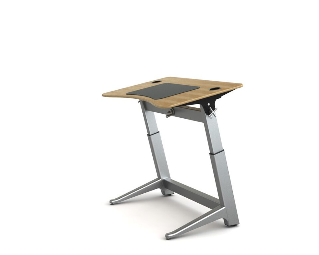 Locus Standing Desk white oak veneer top