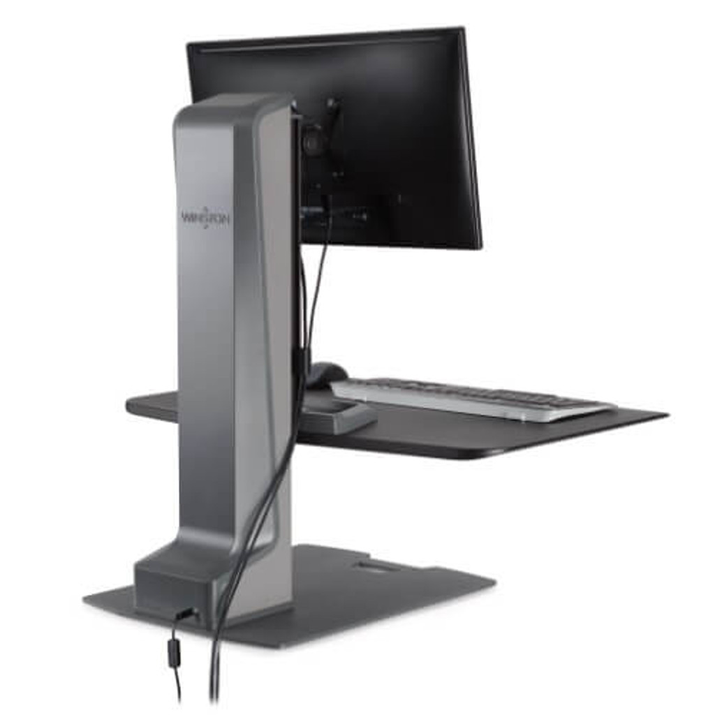 Winston-E Sit-Stand Workstation Single Monitor Mount Back view