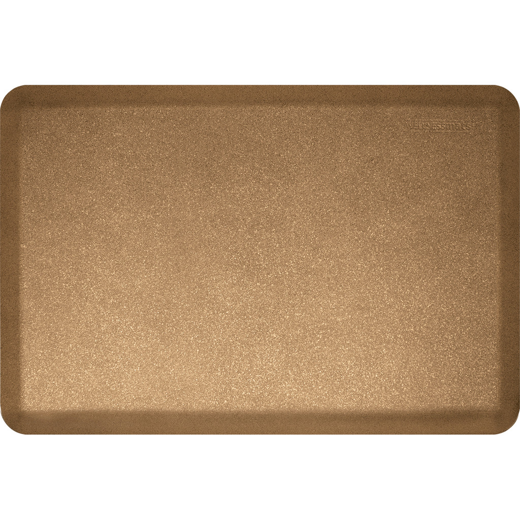 Mosaic Collection anti-fatigue mat in Gold, size 2x3