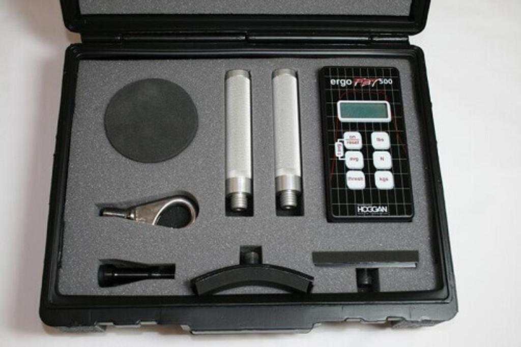 Hoggan Scientific ergoFET500 push pull force gauge complete kit
