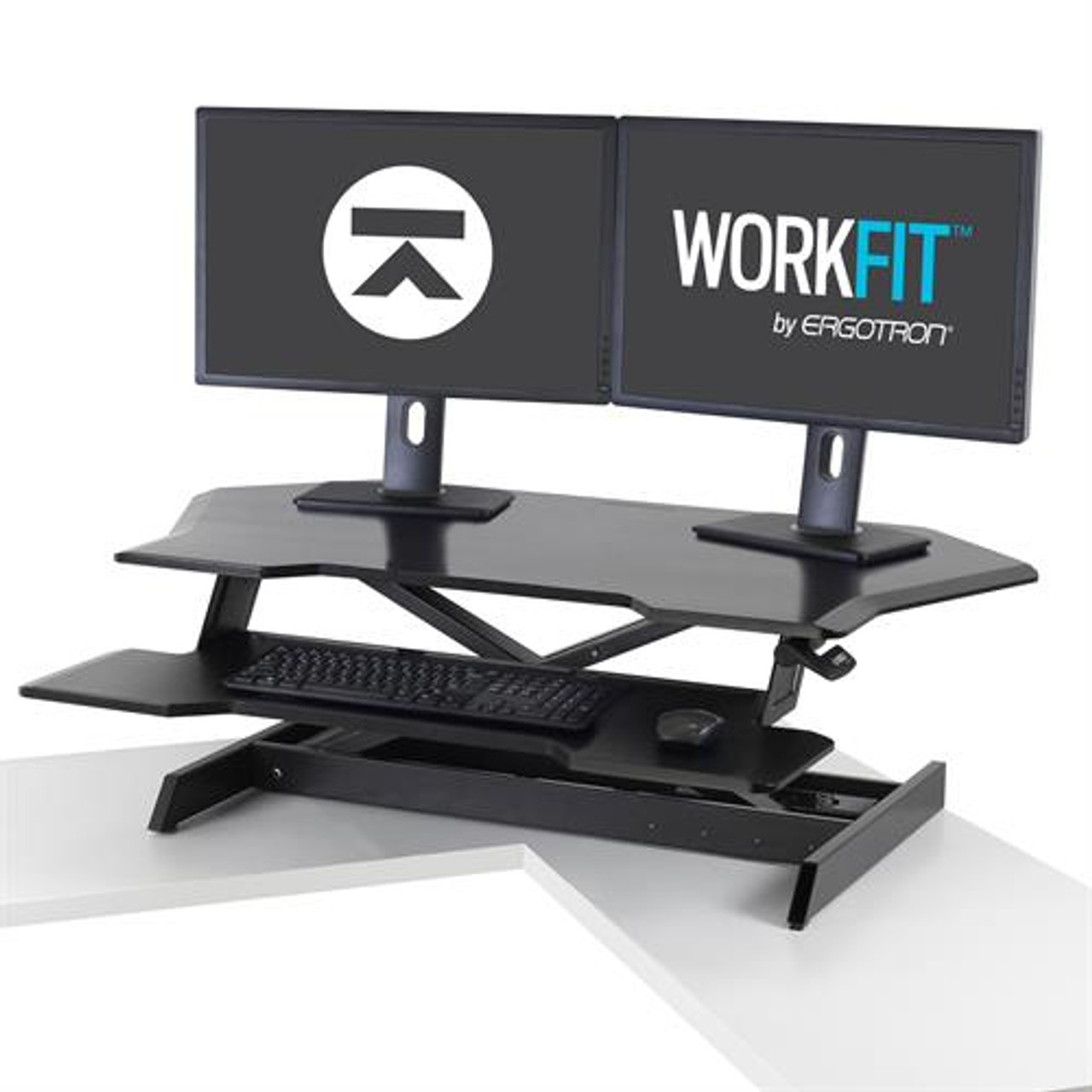 Amazing Workfit Corner Sit Stand Desktop Workstation Download Free Architecture Designs Grimeyleaguecom