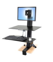 Ergotron WorkFit-S, single HD with Worksurface & Large Keyboard Tray