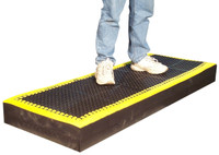 SPC Industrial Add-A-Level & Add-A-Mat Platform with yellow border