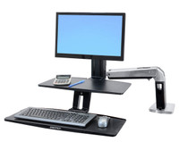 WorkFit-A with Suspended Keyboard, Single LD (24-390-026)