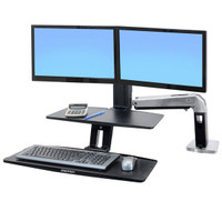 WorkFit-A with Suspended Keyboard, Dual (24-392-026)