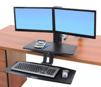 WorkFit-A with Suspended Keyboard, Dual (24-392-026) In Use