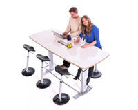 Confluence 8 Standing Height Conference Table (FBT-1000)