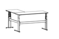 501-27 3-leg desk with top