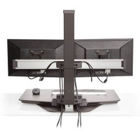 Winston Freestanding Sit-Stand Workstation Dual Monitor Back View