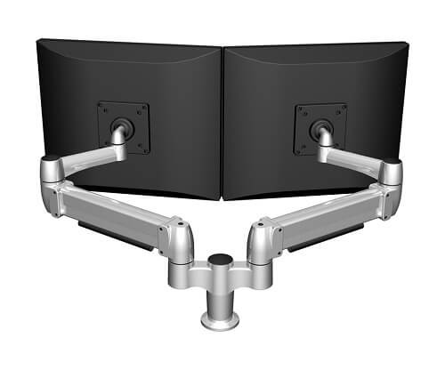 SpaceArm-Dual Monitor Arm Rear View