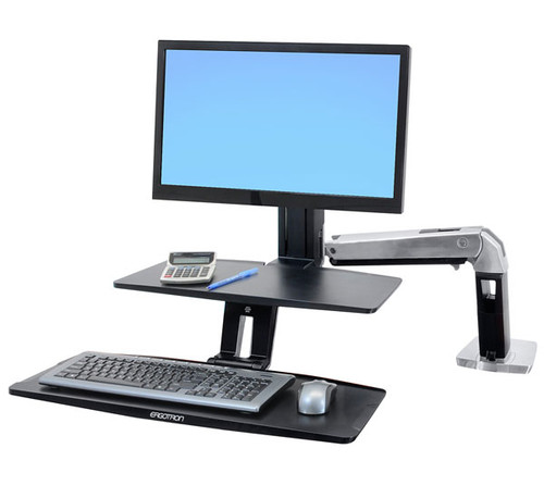 WorkFit-A with Suspended Keyboard, Single HD (24-391-026)