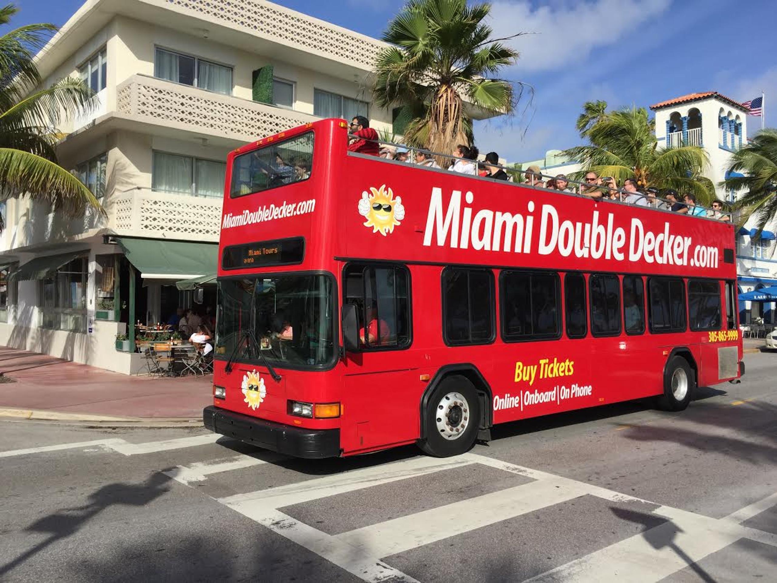 miami bus tours | a double decker miami bus tour - miami