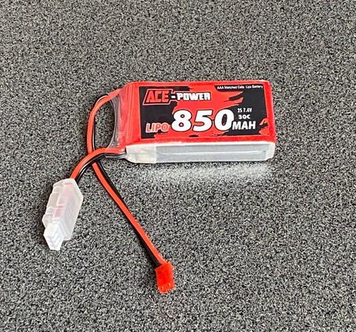 7.4v 850mAh 30C 2S LiPo Soft Case ACE850SC302SJST