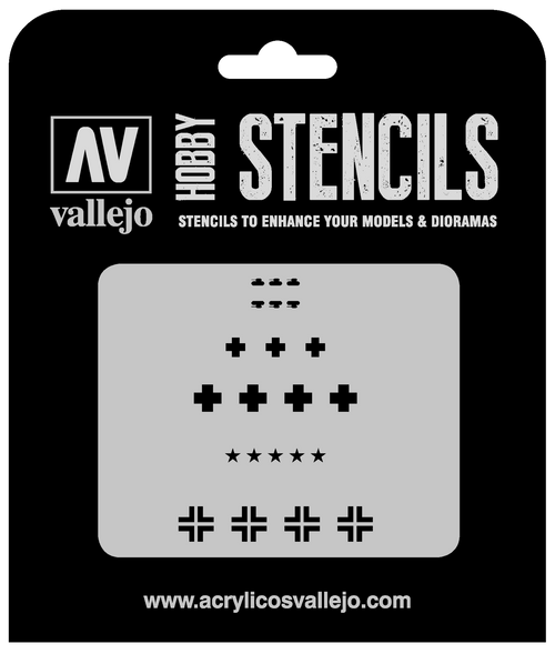 1/35 Assorted German WWII Tank Markings Stencil AVST-AFV001