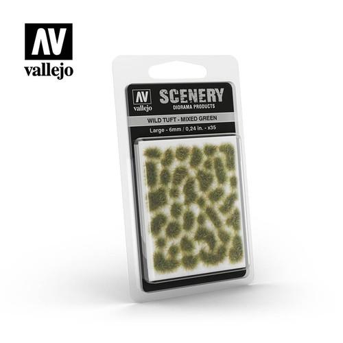 6mm Wild Tuft - Mixed Green AVSC416